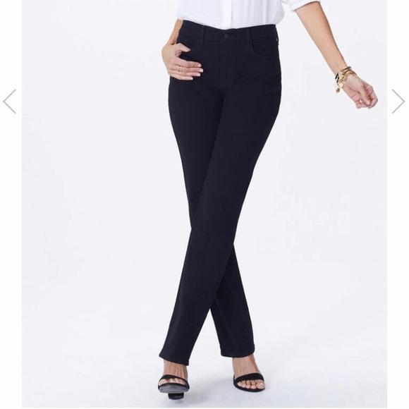 NYDJ Denim - NYDJ Marilyn Straight Jeans in Black